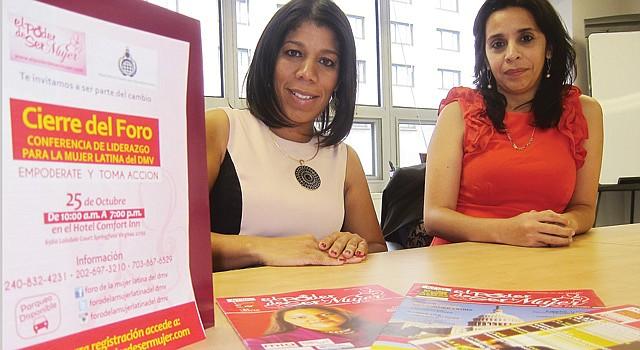 DÚO. La dominicana Sagrario Ortiz (izq.) y argentina Myriam Figueroa lideran la revista, programa radial y movimiento El Poder de Ser Mujer.