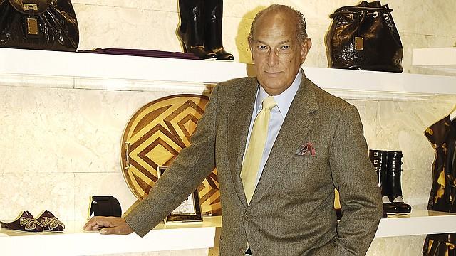 El dominicano, Oscar de la Renta, durante una entrevista en 2008, tras la inauguración de una nueva tienda en Madrid.