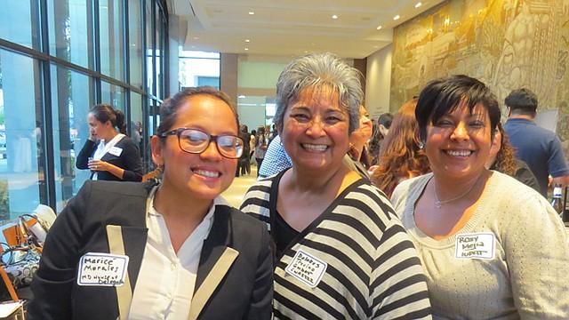 PODER. Maricé Morales (izq.), candidata a delegada en MD, en un evento reciente.