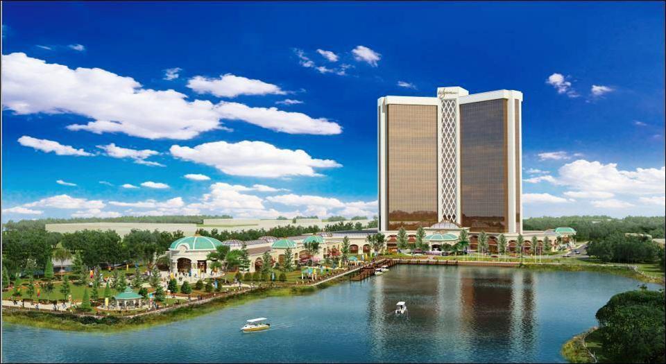 Maqueta del edificio de Wynn Resorts en Everett