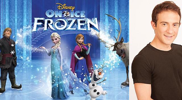 """ESPECTÁCULO. Personajes del espectáculo """"Frozen"""", basado en la película taquillera. El patinador Pablo Saccinto representa al reno Sven (der.)"""