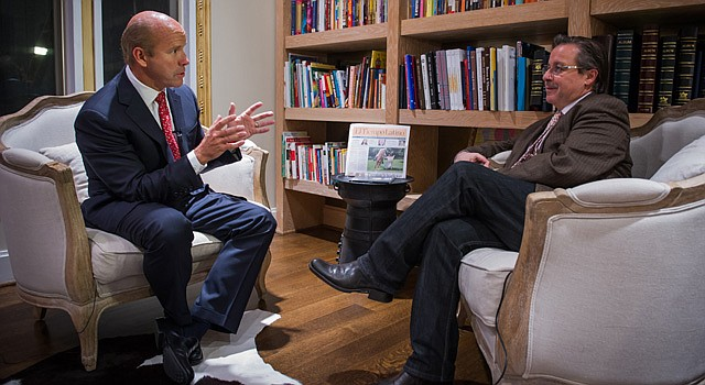 Congressman John Delaney (Maryland's 6th District) during the interview with Alberto Avendaño. Oct. 27 2014.
