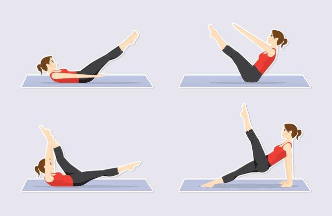 Los 4 principales ejercicios abdominales para mujeres