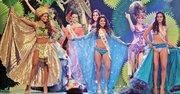 BELLEZA. Un momento del certamen Reina Hispanoamericana 2014 celebrado en Santa Cruz, Bolivia.