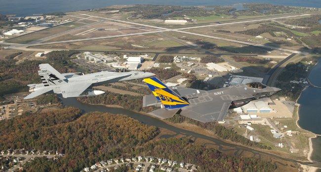 Foto aérea de NAS Patuxent River