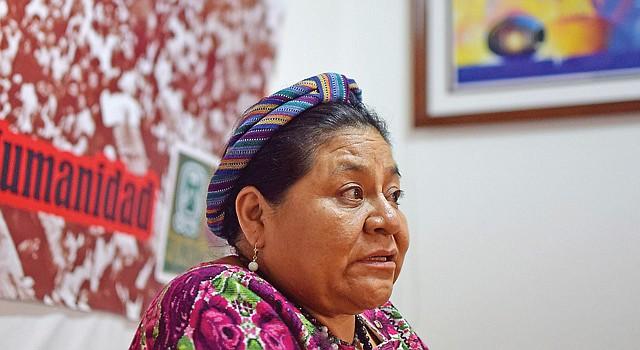AUTORA. Rigoberta Menchú, ganadora del Premio Nobel de 1992.