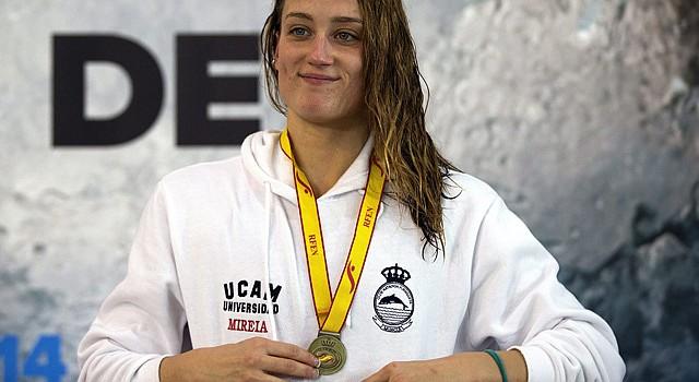 La nadadora española plusmarquista mundial Mireia Belmonte
