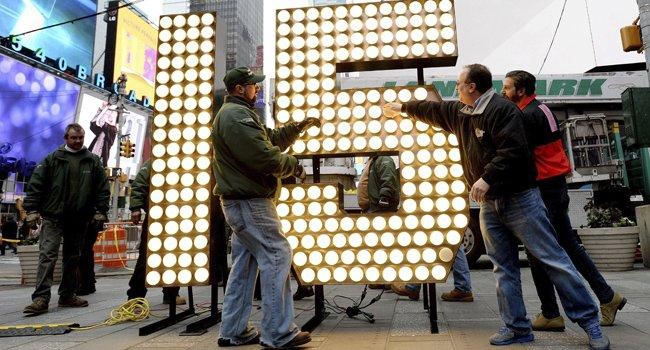 Un gigante 2015 preparado para que Times Square reciba el Año Nuevo