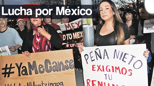 Continúan las  protestas en Houston por caso Ayotzinapa y en contra de Peña Nieto