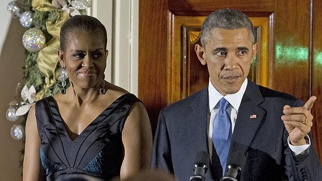El presidente, Barack Obama y la primera dama, Michelle Obama en una conmemoración reciente la festividad judaica de la Fiesta de las Luces.