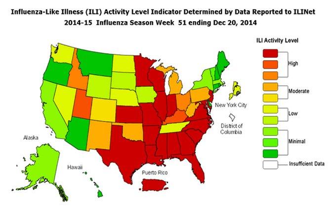 Epidemia de gripe azota a EE.UU.