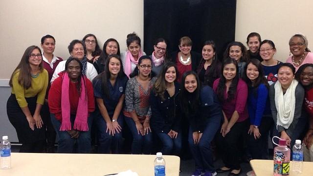 Miembros del capítulo de Massachusetts de la Asociación Nacional de Enfermeras Hispanas