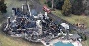 Jan. 20, 2015 Flames consumed the mansion, bringing down its seven-ton steel beams and reducing to ash a structure the size of seven average single-family houses. Jonathan Newton/The Washington Post