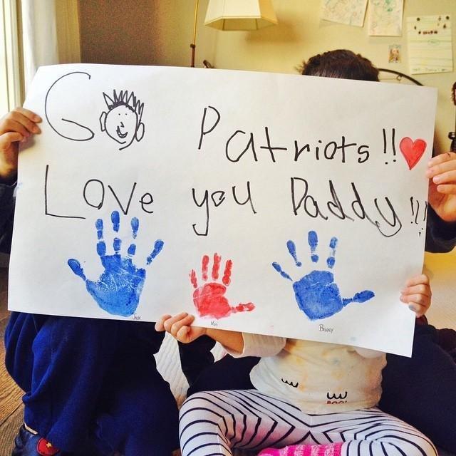 """""""Vai @patriots! Nós te amamos papai!!!"""""""