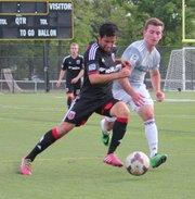 El hondureño-estadounidense Jorge Calix en un partido con la selección Sub-18 de la Academia del DC United.