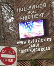 La estación de bomberos en California, condado de St. Mary's, sur de Maryland
