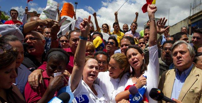 Piden en Caracas la liberación del alcalde Ledezma