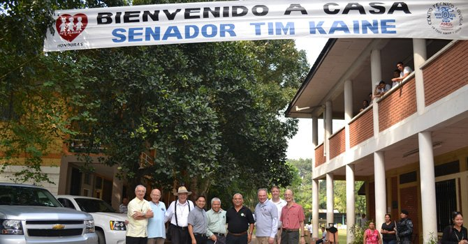 """I had a special opportunity to visit the Instituto Técnico Loyola, where I taught welding and carpentry 35 years ago. I was humbled by the warm welcome I received from former Jesuit colleagues and more than 300 current students and teachers. I enjoyed a tour of the expanded campus and spoke to a school-wide assembly, reflecting on my time in Honduras."" —Senator Tim Kaine"