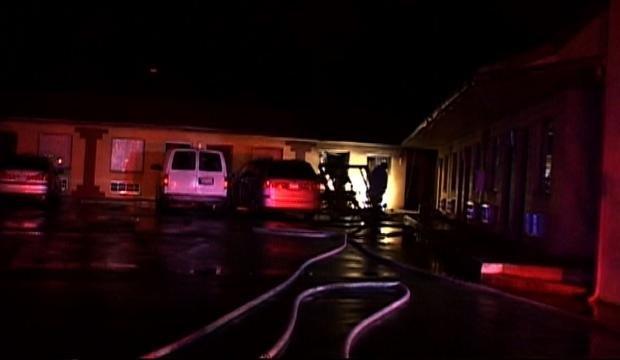 Motel pierde una de sus habitaciones a causa de un incendio