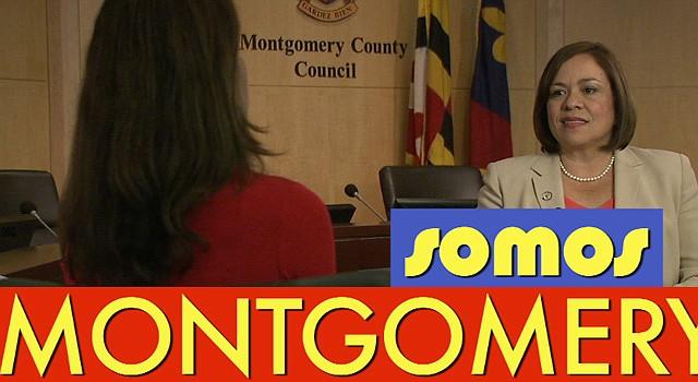 La concejal Nancy Navarro durante un programa de información comunitaria del Concejo del Condado de Montgomery