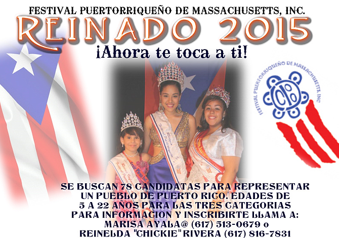 Festival Puertorriqueño de Massachusetts busca candidatas para reinado 2015