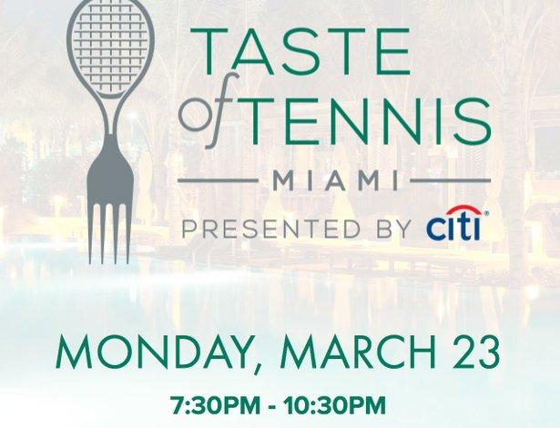 1st annual taste of tennis Miami presented by Citi®