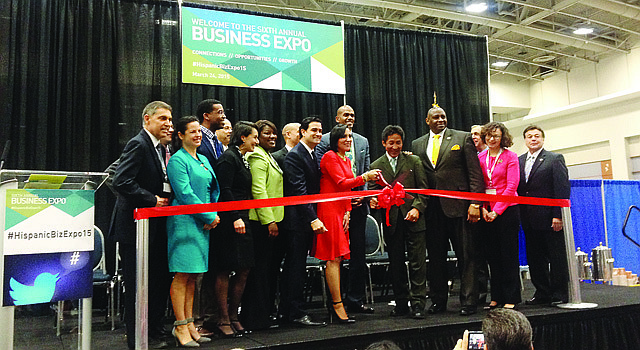 Inauguración de la Sexta Business Expo de la Greater Washington Hispanic of Commerce, el martes 24 de marzo de 2015 en el Centro de Convenciones de Washington, DC.