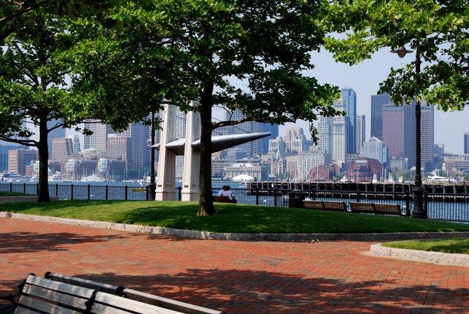 Vista desde el Piers Park, en East Boston.