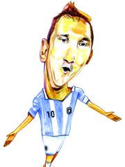 Caricatura de Messi.
