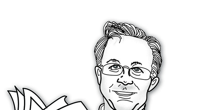 Caricatura de Alberto Avendaño por Armando Caicedo