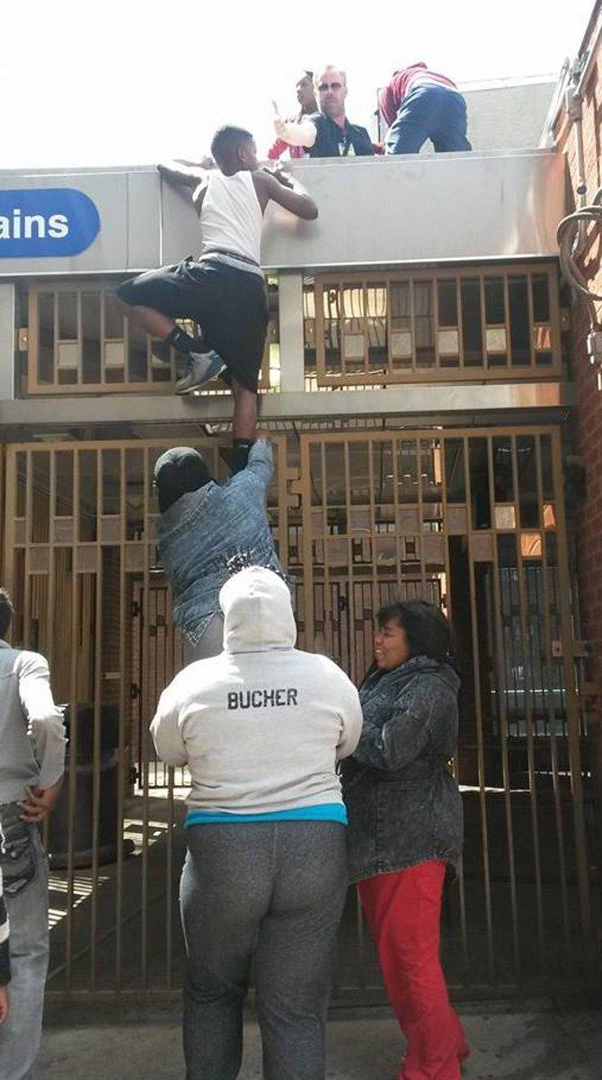 En Baltimore, Maryland, cerca de la North Avenue, punto fuerte de disturbios, el 28 de abril de 2015.