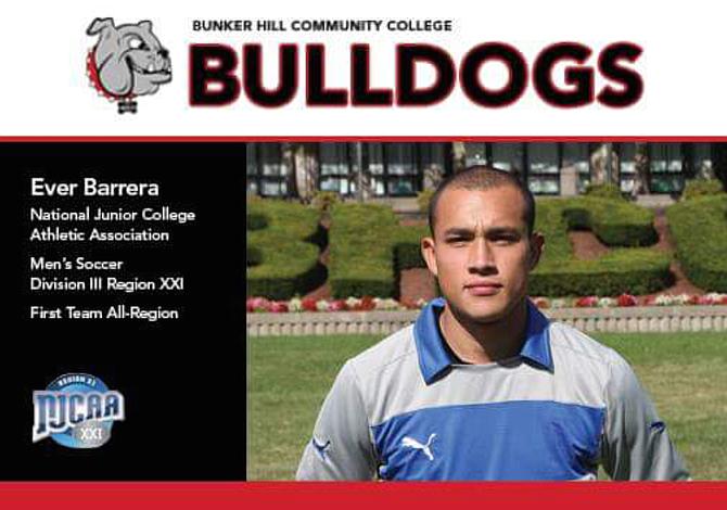 """Ever Barrera, portero de Bunker Hill Community College: """"Uno también tiene el potencial de llegar a ser grande"""""""