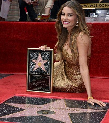 Sofía Vergara recibe su estrella en el Paseo de la Fama de Hollywood