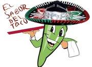 """El logotipo de """"El Sabor del Taco""""."""