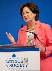 """Monica Lozano, presidenta del programa """"Latinos y Sociedad del Instituto Aspen."""