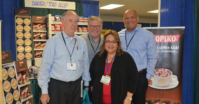 Vernon Goad (CVS Pharmacy) Ernie Paskoff (Toadally Snax) Elda DeVarie (EMD Sales) Jeremy Chuatico (Danisa)