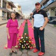 Irlanda Gutiérrez Galdámez y su hijo Vladimir en Ciudad Barrios, San Miguel, El Salvador.