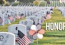 En el Día de Recordación, cada una de las tumbas en el cementerio de los veteranos luce una bandera de Estados Unidos.