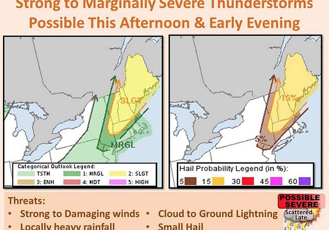 Severas tormentas de lluvia vienen esta tarde a Nueva Inglaterra