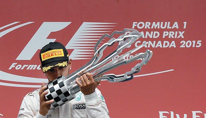 Hamilton ganó en Canadá