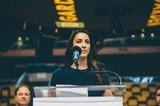 """""""El honor y la emoción de competir por tu país, en tu país, debe de ser increíble. No habría nada mejor que competir por esta ciudad y la gente de Boston, """" indicó la gimnasta olímpica Aly Raisman sobre el anuncio sobre la cede para la gimnasia."""