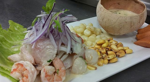 El ceviche es el plato bandera de Perú.
