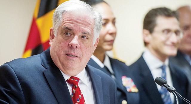 Gobernador de Maryland, el republicano Larry Hogan.