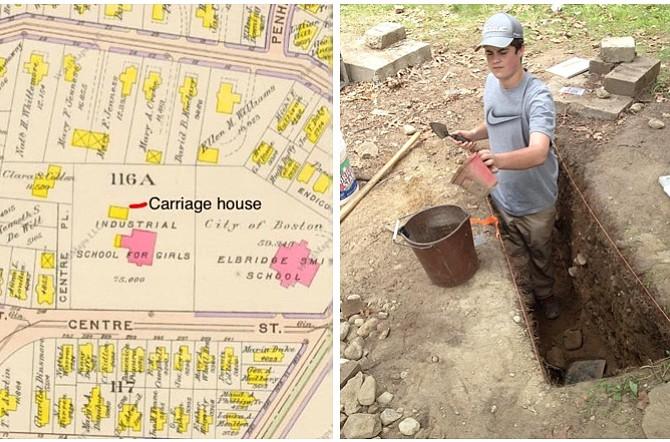 DORCHESTER: Jóvenes participan en exploración arqueológica en patio de escuela histórica