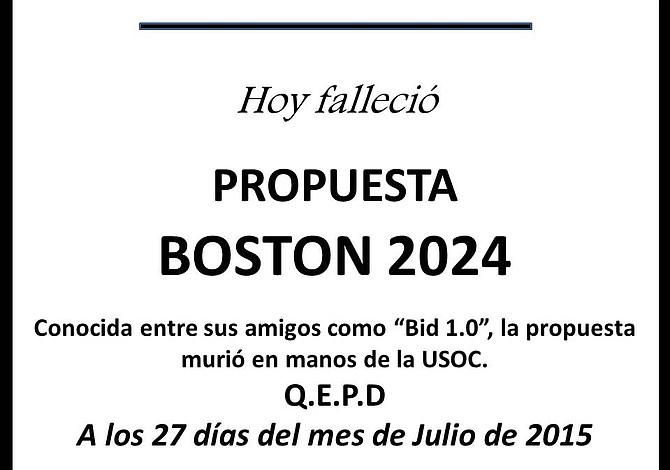 Murió la propuesta olímpica Boston 2024: ¿Quién llora a ese muerto?