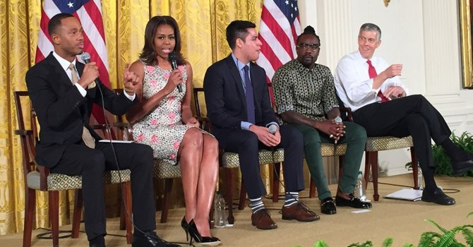 Michelle Obama, sí se puede a la educación