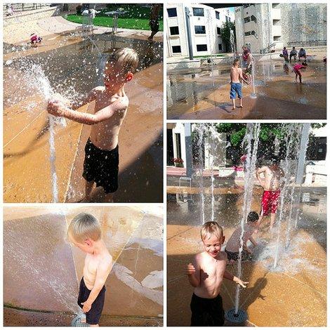 A disfrutar del 'Splash Mob'