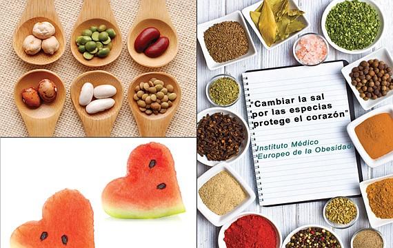 ALIMENTOS La sandía, los frutos secos, como las nueces, el vino tinto y las alternativas a la sal son claves para un corazón saludable.