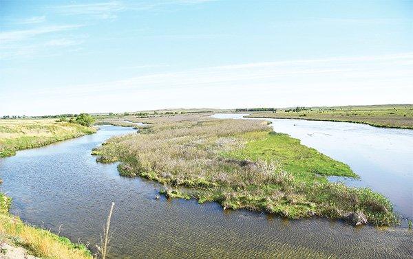 Manantiales del acuífero de Ogallala alimentan el río North Loup.