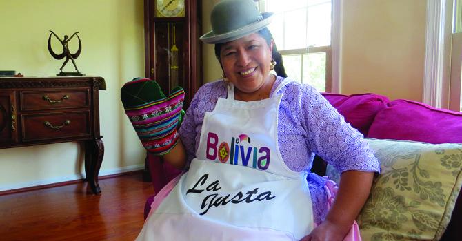 """La valentía boliviana de """"La Justa"""" estuvo en DC"""